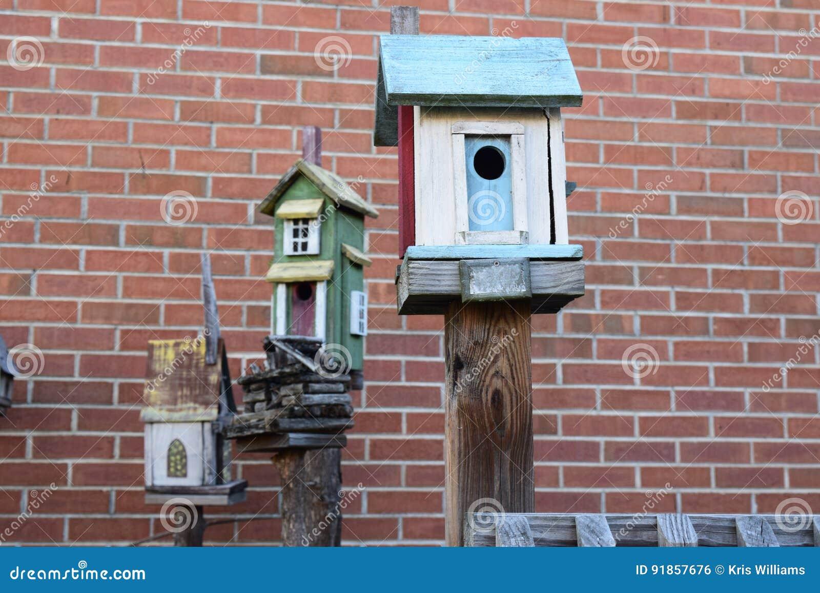 Three more bird houses on posts