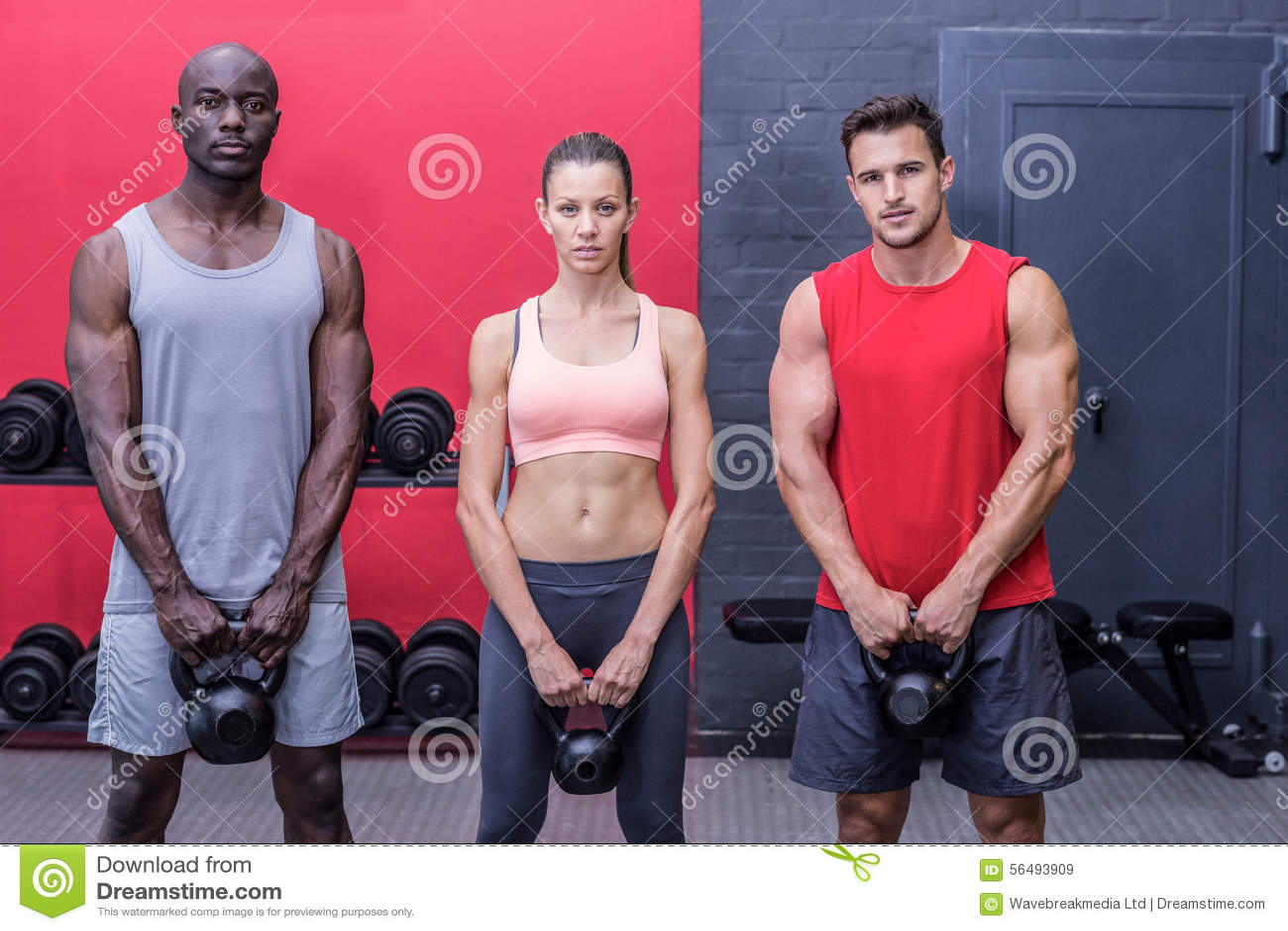 Three Hunky Athletes Sucking