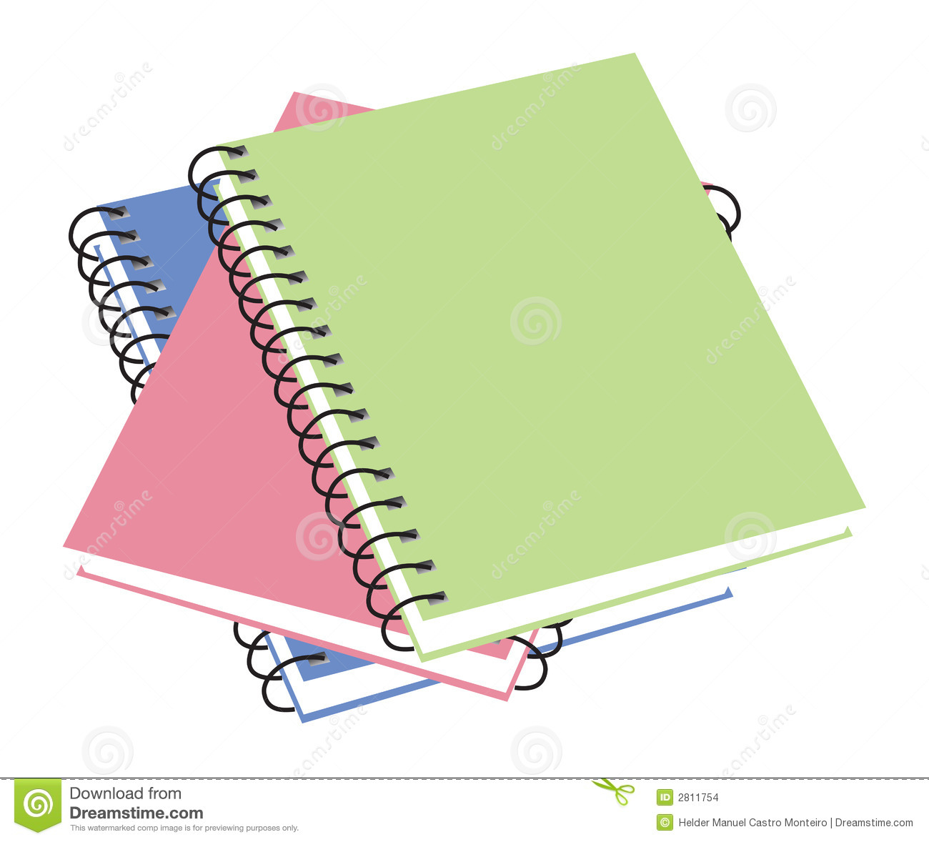 Three notebooks. vector illustration available.
