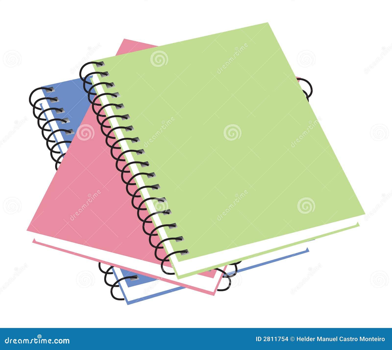 Three notebooks. vector illustration available. Octopus Cartoon Images