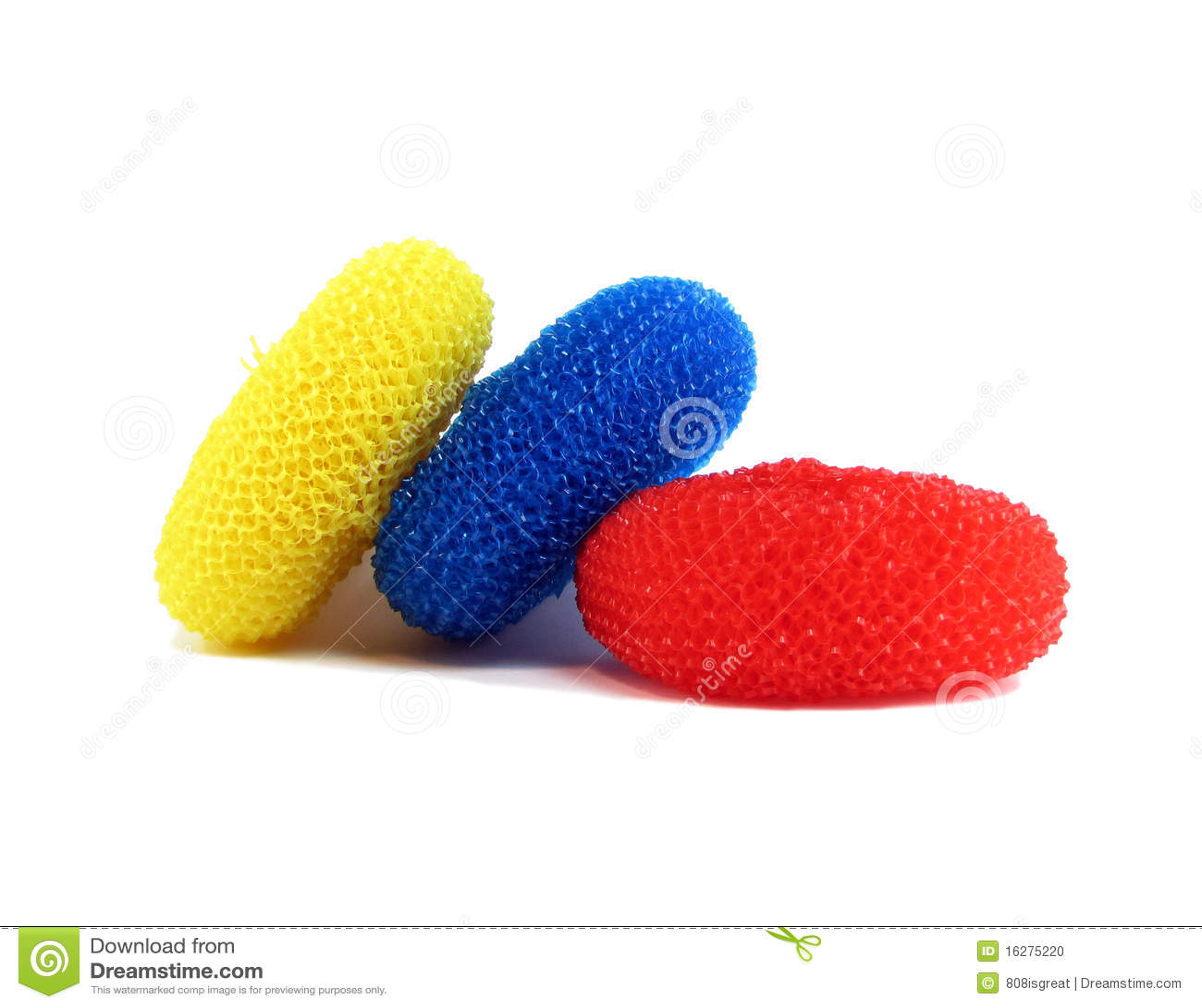 Three Nylon Scrubbers Stock Photo Image Of Sponge
