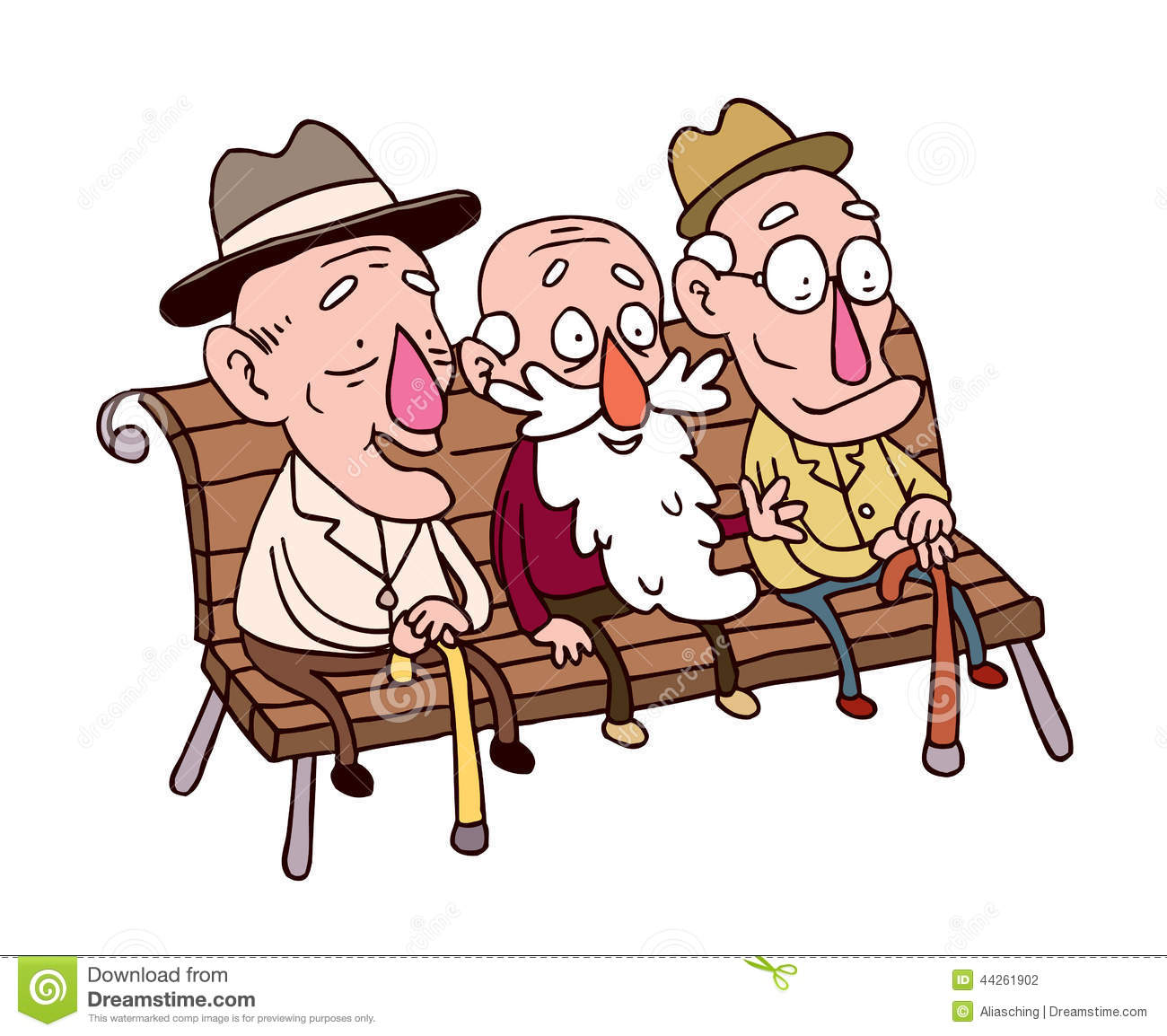three old friends cartoon illustration mr no pr no 2 655 2