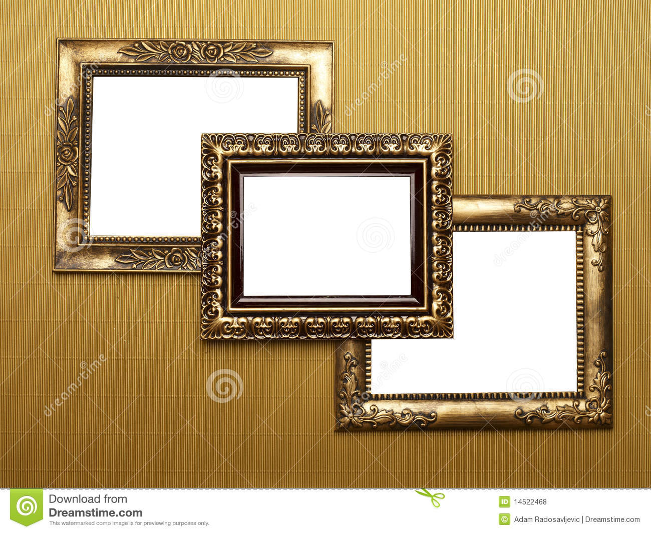 three old picture frames