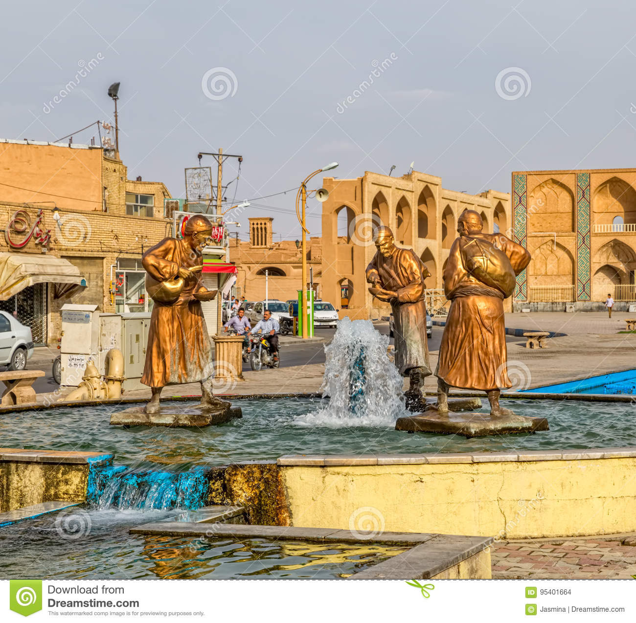 Image of: Couple Three Old Travelers Statues In Yazd Dreamstimecom Three Old Travelers Statues In Yazd Editorial Stock Image Image Of