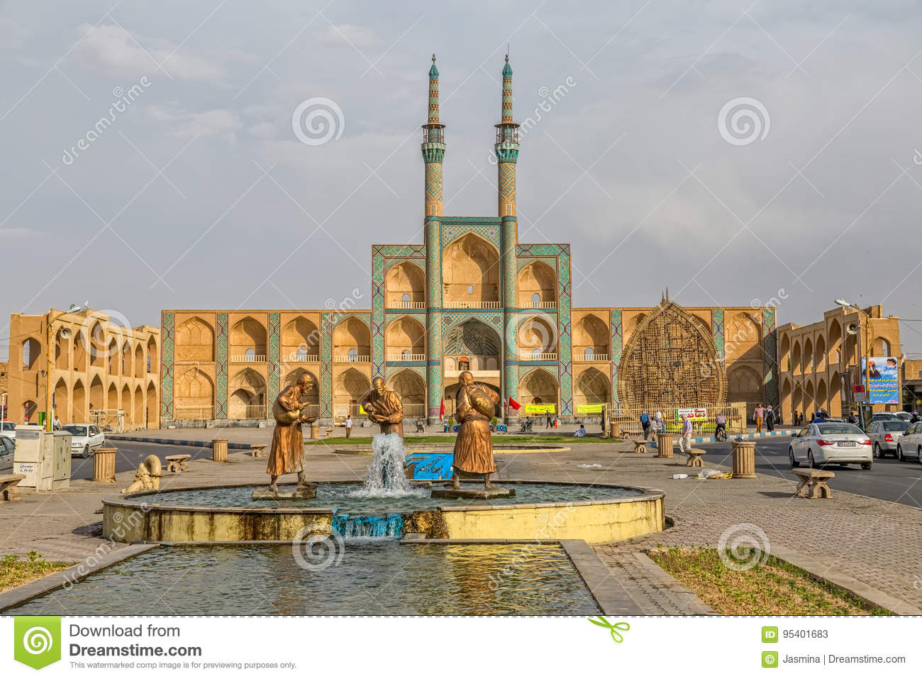 Image of: Elderly Three Old Travelers Statues In Yazd Dreamstimecom Three Old Travelers Statues In Yazd Editorial Stock Photo Image Of