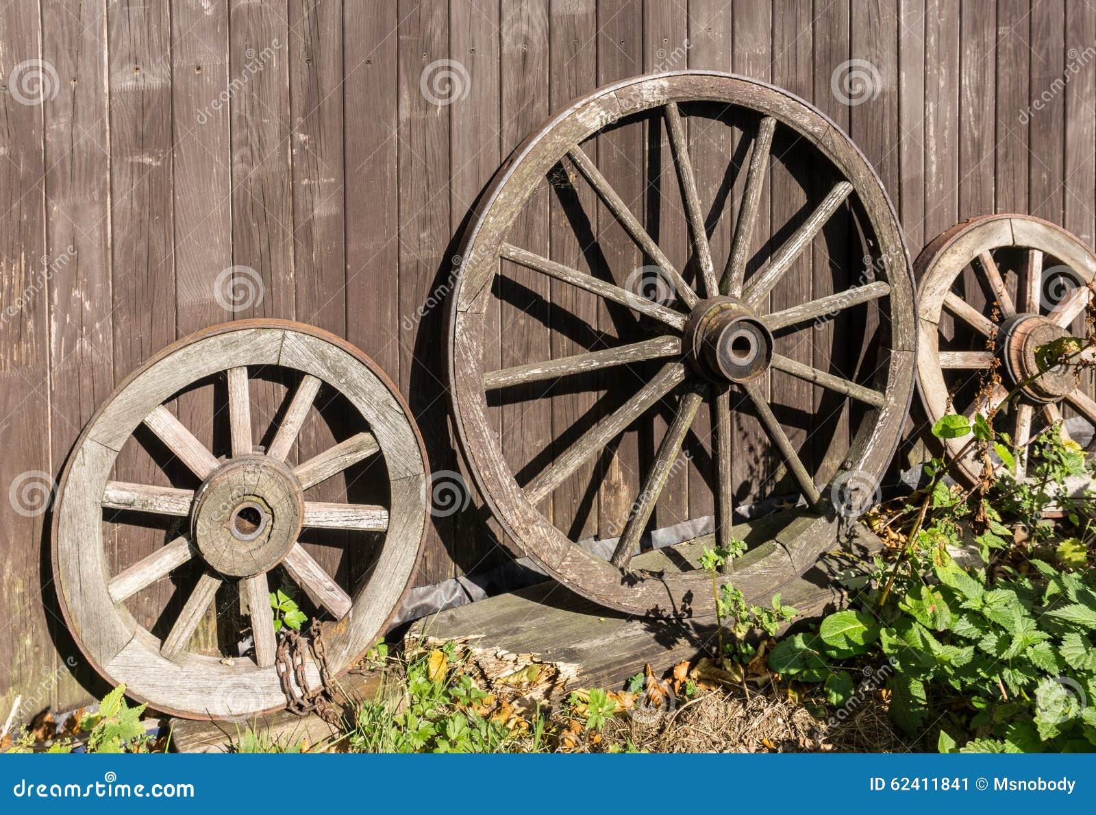 Three Old Wagon Wheels. Country, Nostalgia.