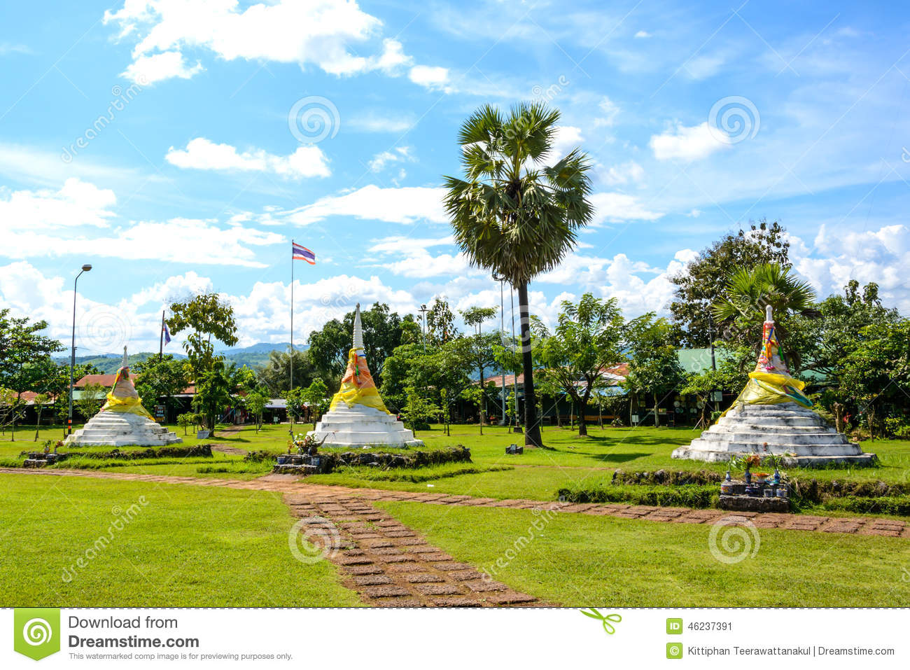 The Three Pagodas Pass, Thailand Stock Photo - Image: 46237391