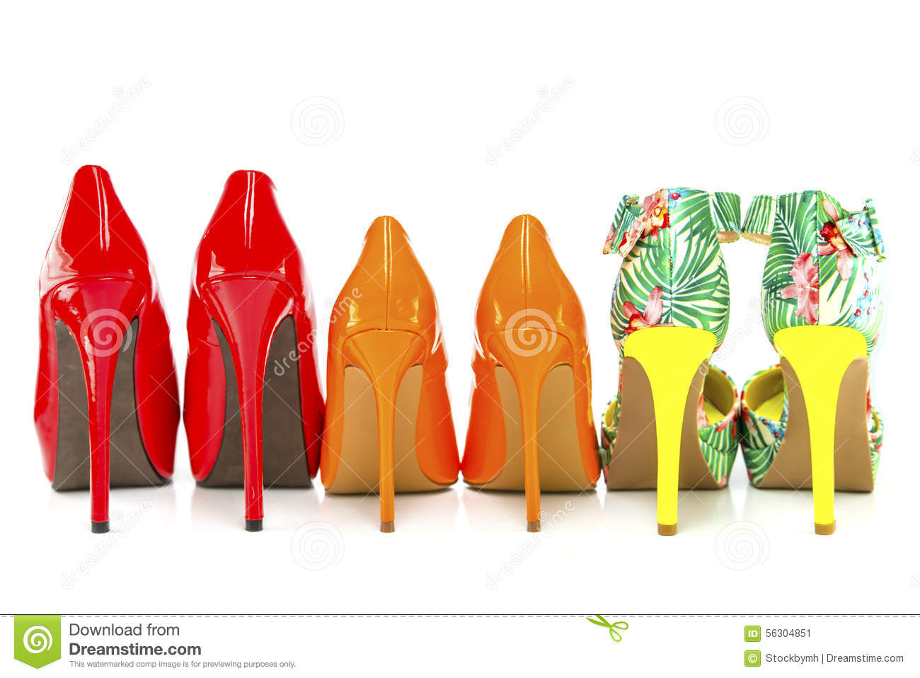 Women Shoes With Various Heels