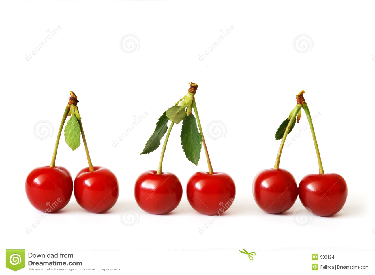 Image result for three pairs of cherries