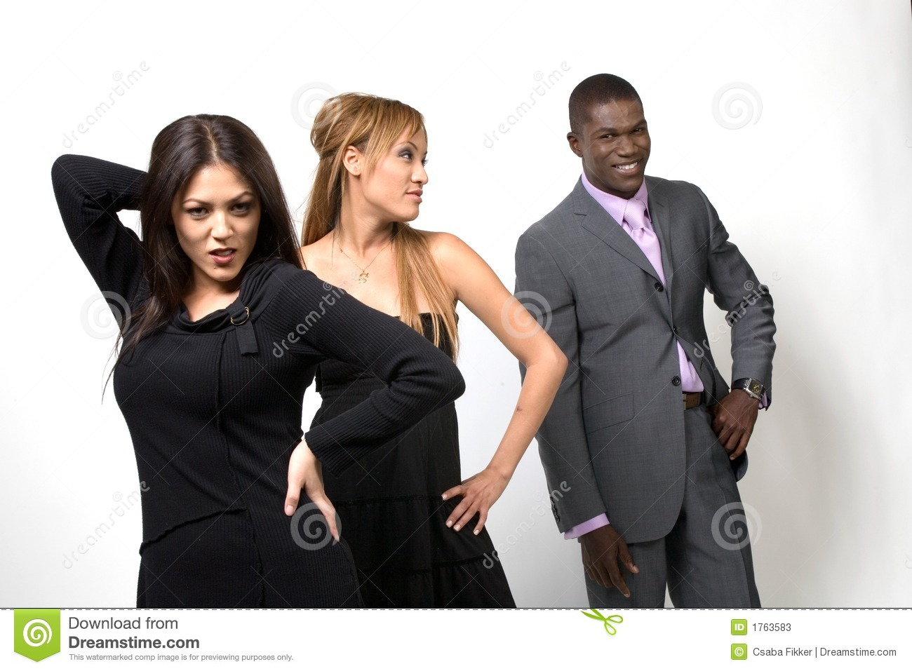 Stock Photos Three People Posing Image1763583