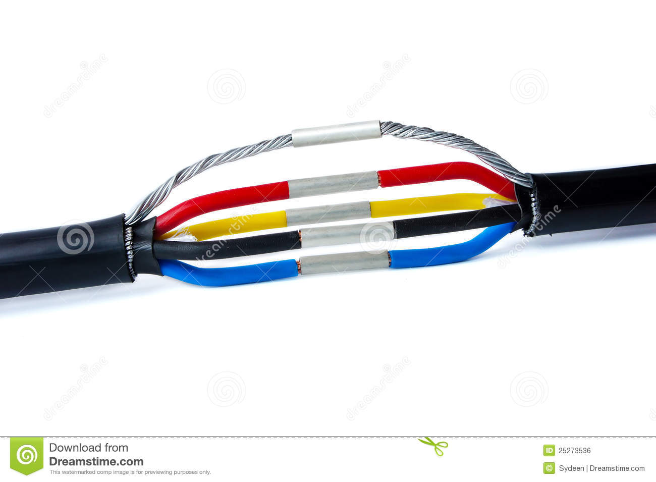 Three phase cable jointing stock photo. Image of electric - 25273536
