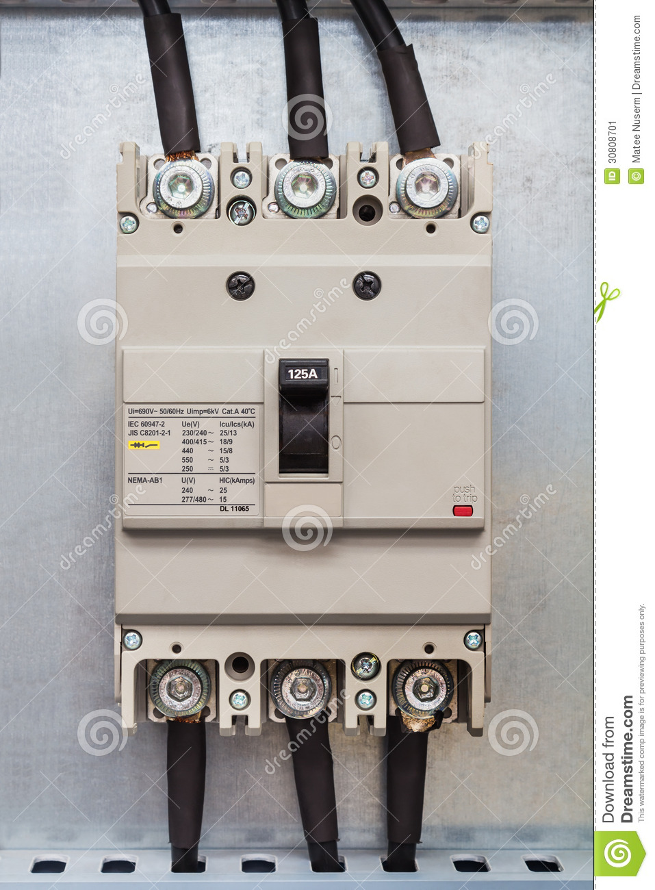Three Phase Circuit Breaker Stock Image Image Of Control