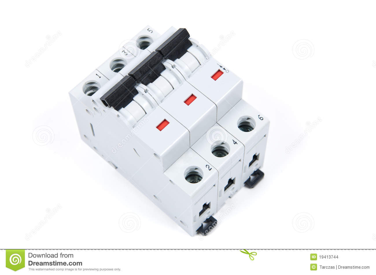 Three Phase Safety Switch In OFF Position Stock Photo - Image of ...