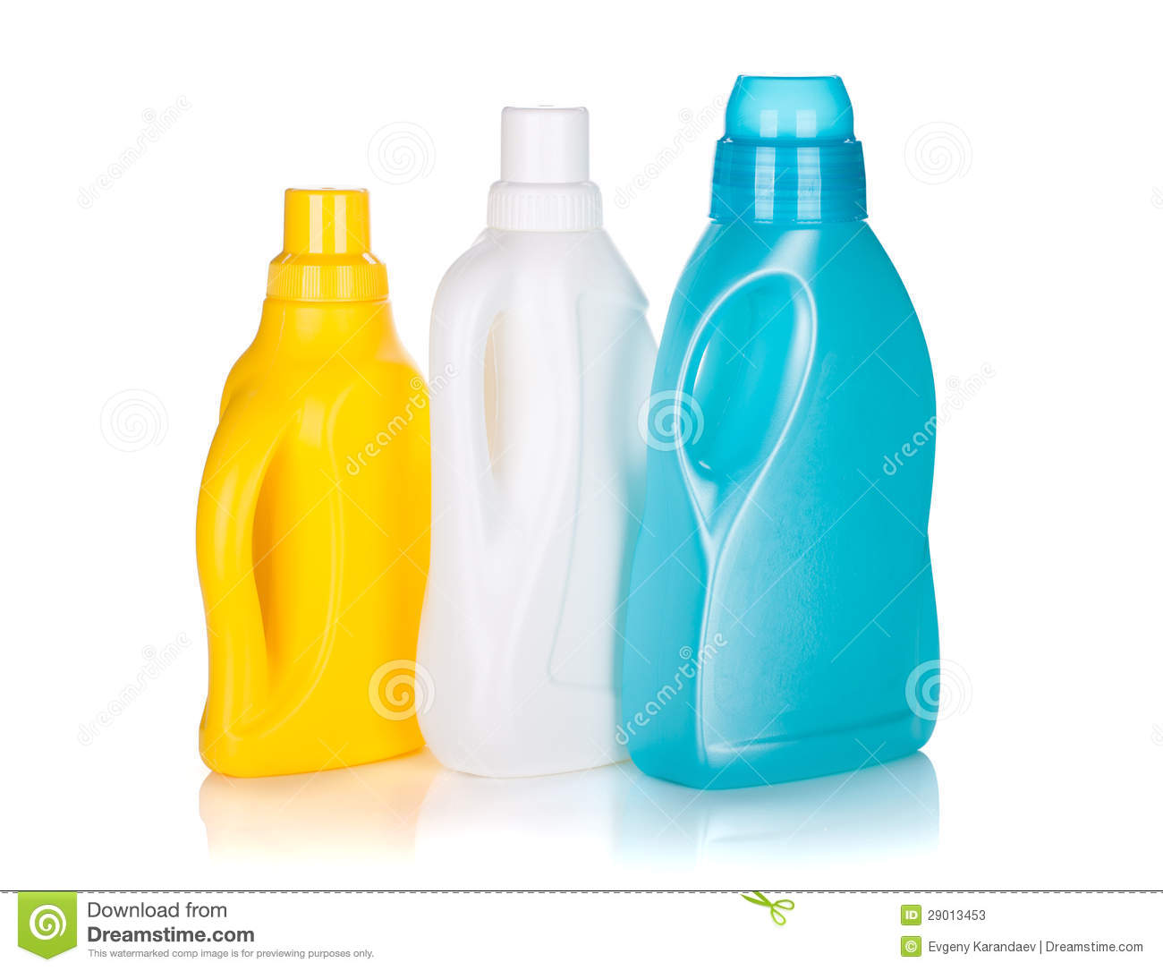 Three Plastic Bottles Of Cleaning Product Stock Photos - Image ...