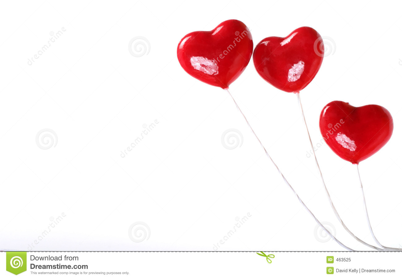 Download Three plastic hearts stock image. Image of love, passion - 463525