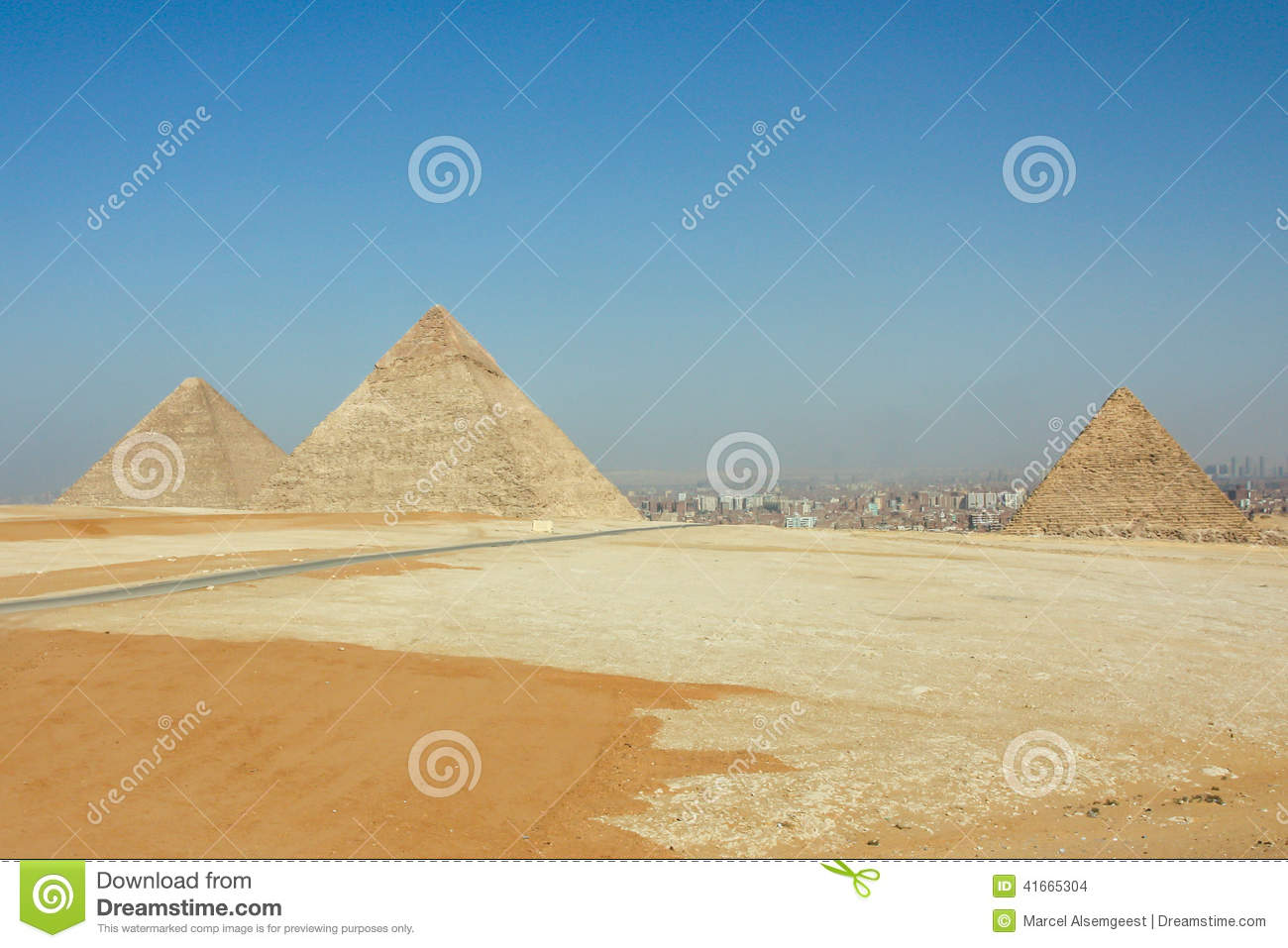 The three Pyramids of Gizeh