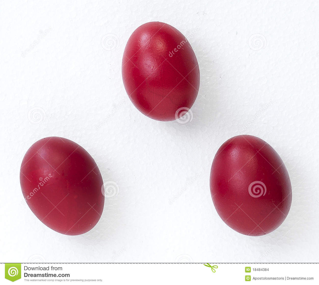 how to make red easter eggs