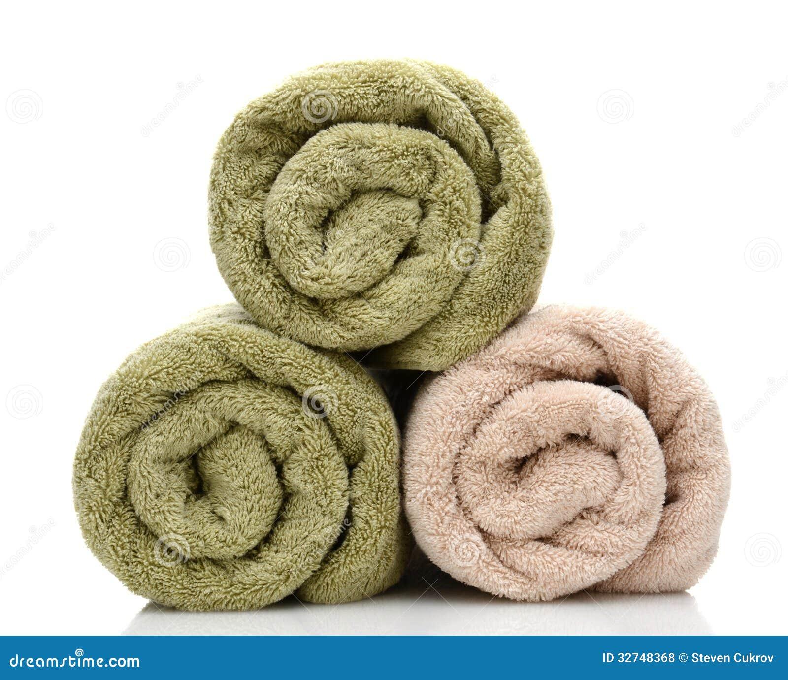 Three Rolled Bath Towels Stock Photo Image Of Bathe