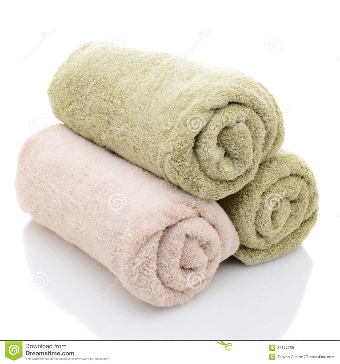 Three Rolled Bath Towels Royalty Free Stock Images Image