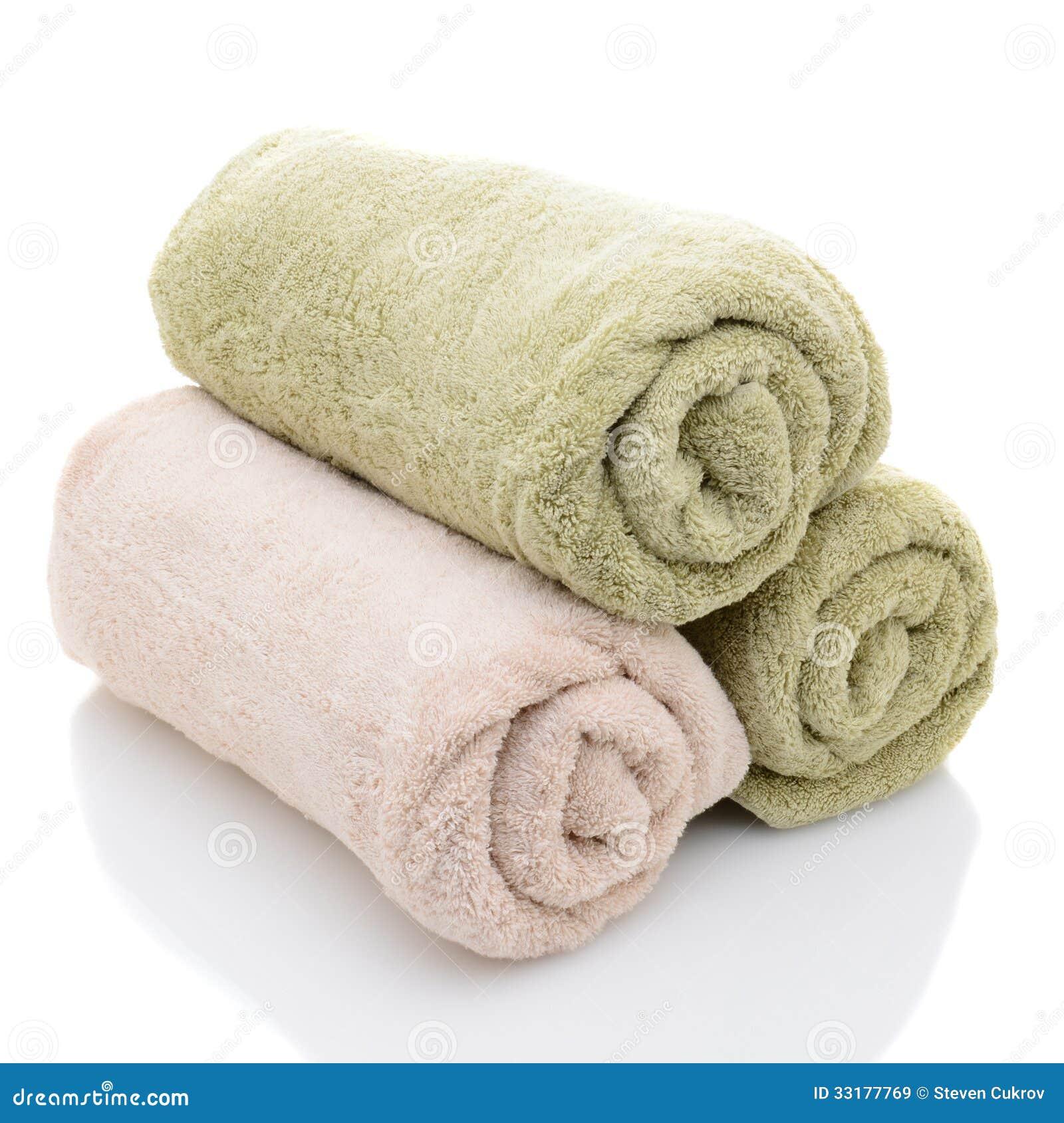 Rolled Towels In Bathroom