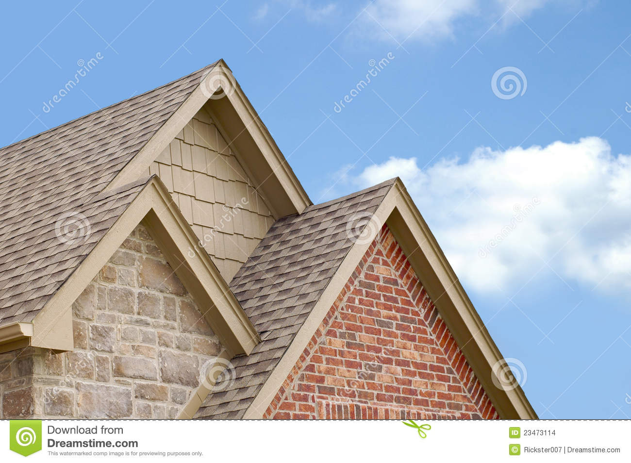 Three Roof Gables