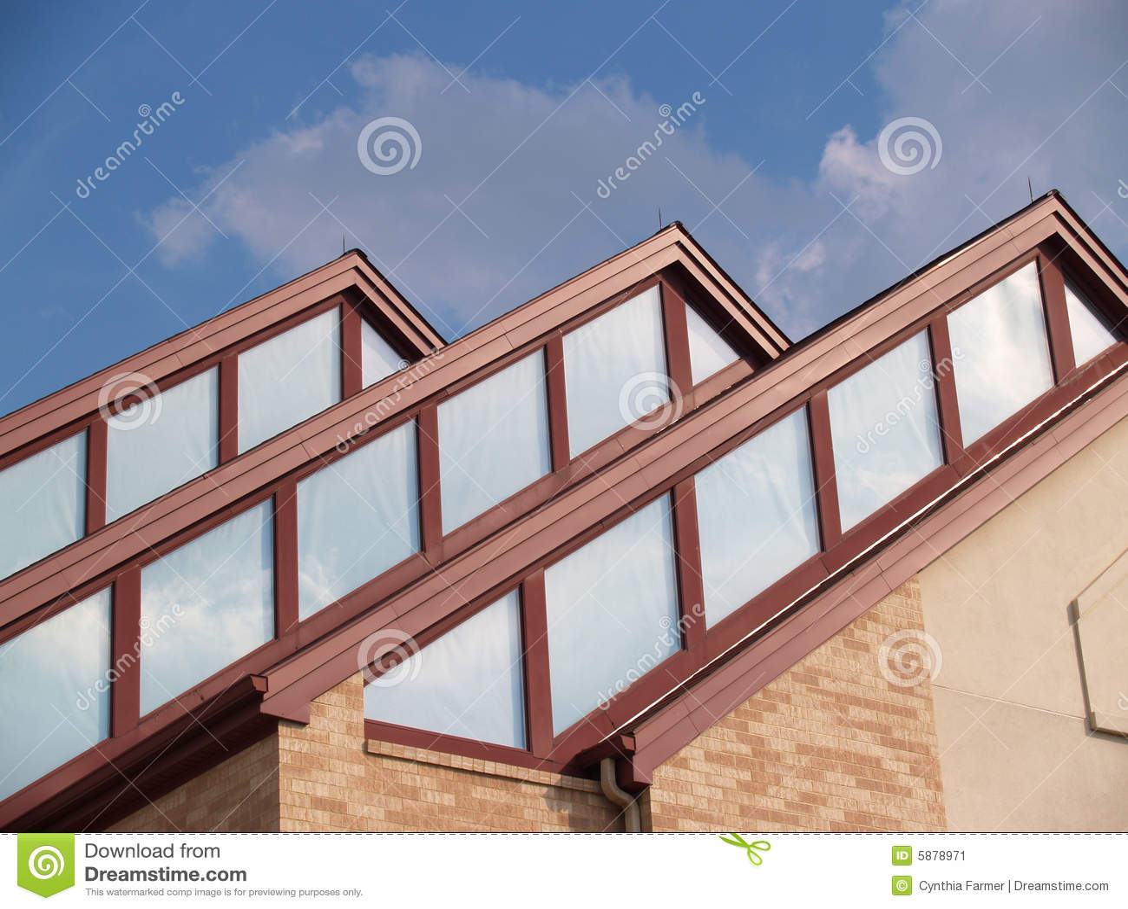 Three Roof Peaks Stock Image Image 5878971