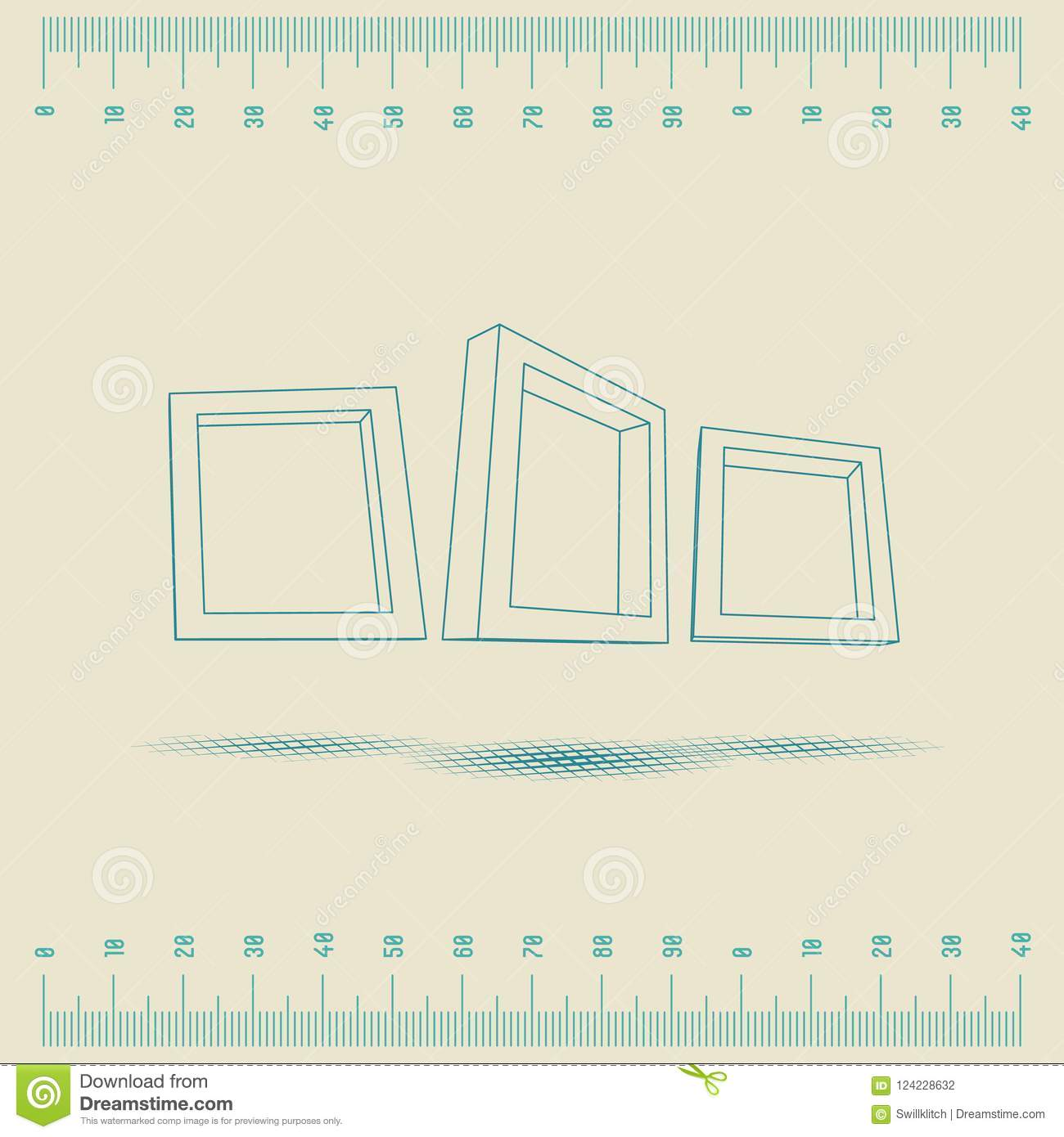 Three rectangular 3d frames blueprint stock vector illustration of download three rectangular 3d frames blueprint stock vector illustration of frame background 124228632 malvernweather Gallery