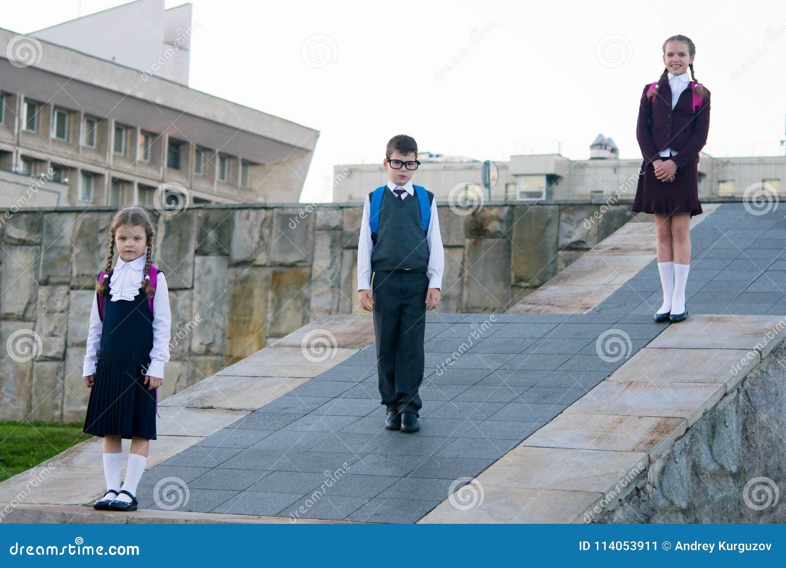 aa84bf8137 Three Schoolchildren Of Different Ages