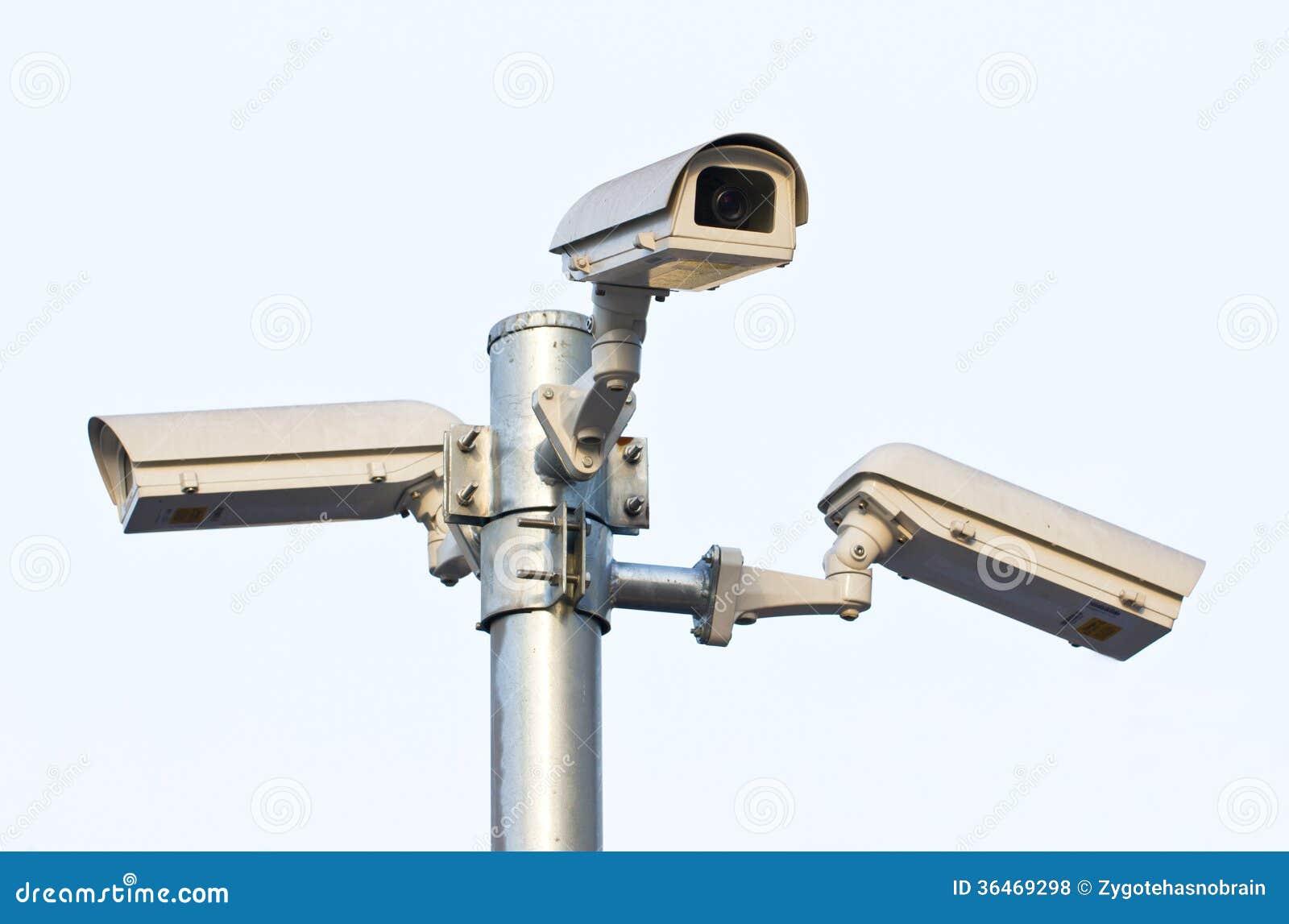 Three Security Cameras.