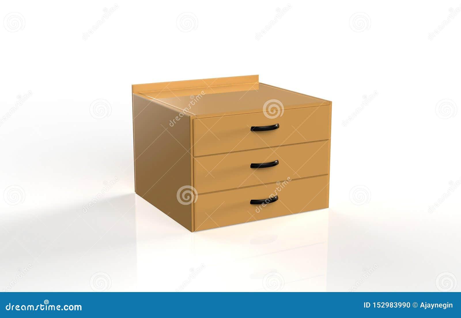 Three shelf drawer