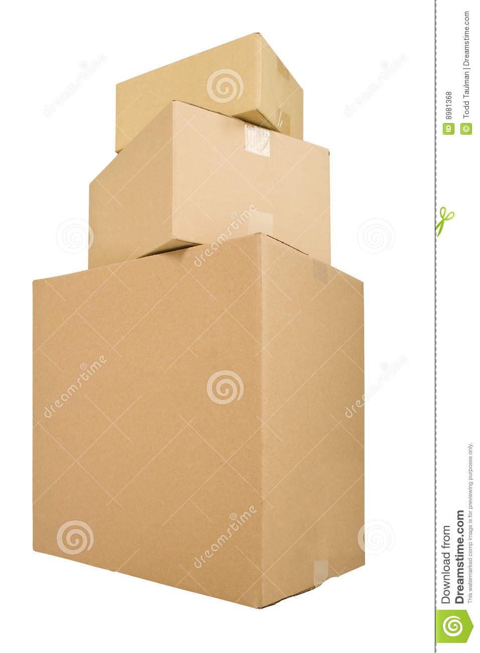 Three Shipping Boxes