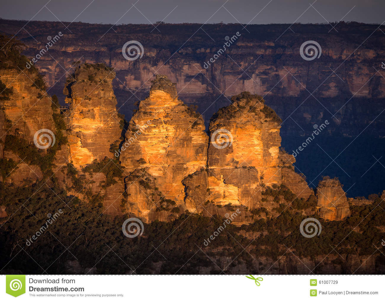 Three Sisters at sunset
