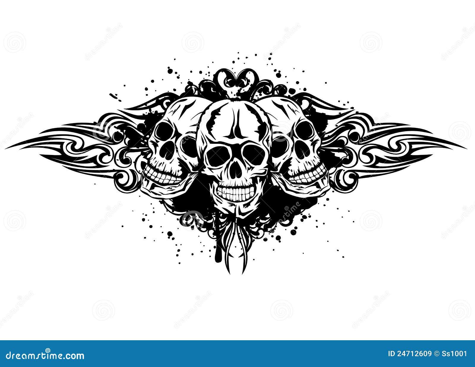 three skulls royalty free stock images