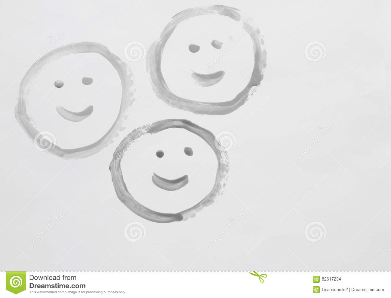Three Smiley Faces Stock Photo Image Of Christmas Friendship