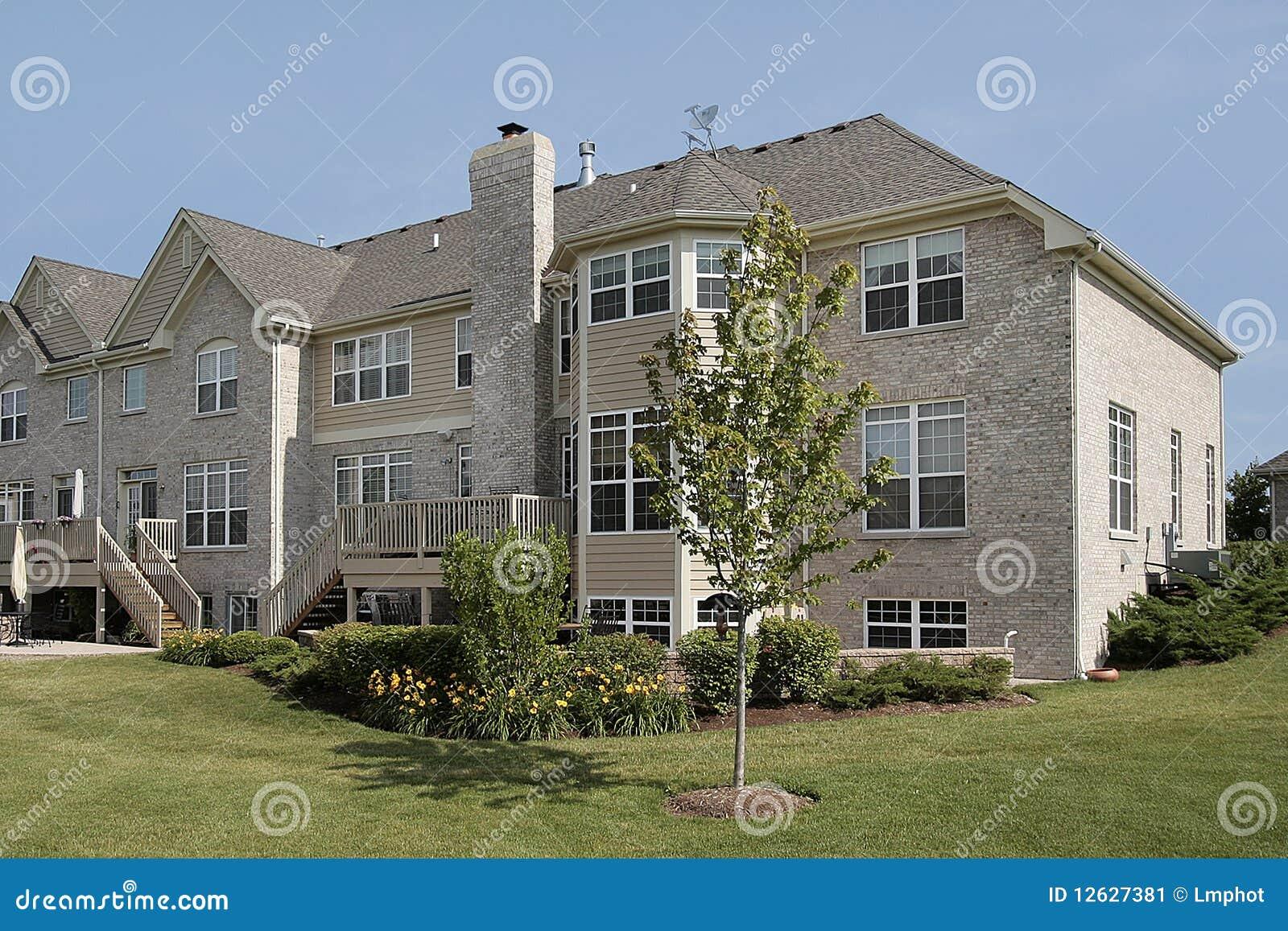 Three Story Suburban Townhouse Stock Image Image 12627381