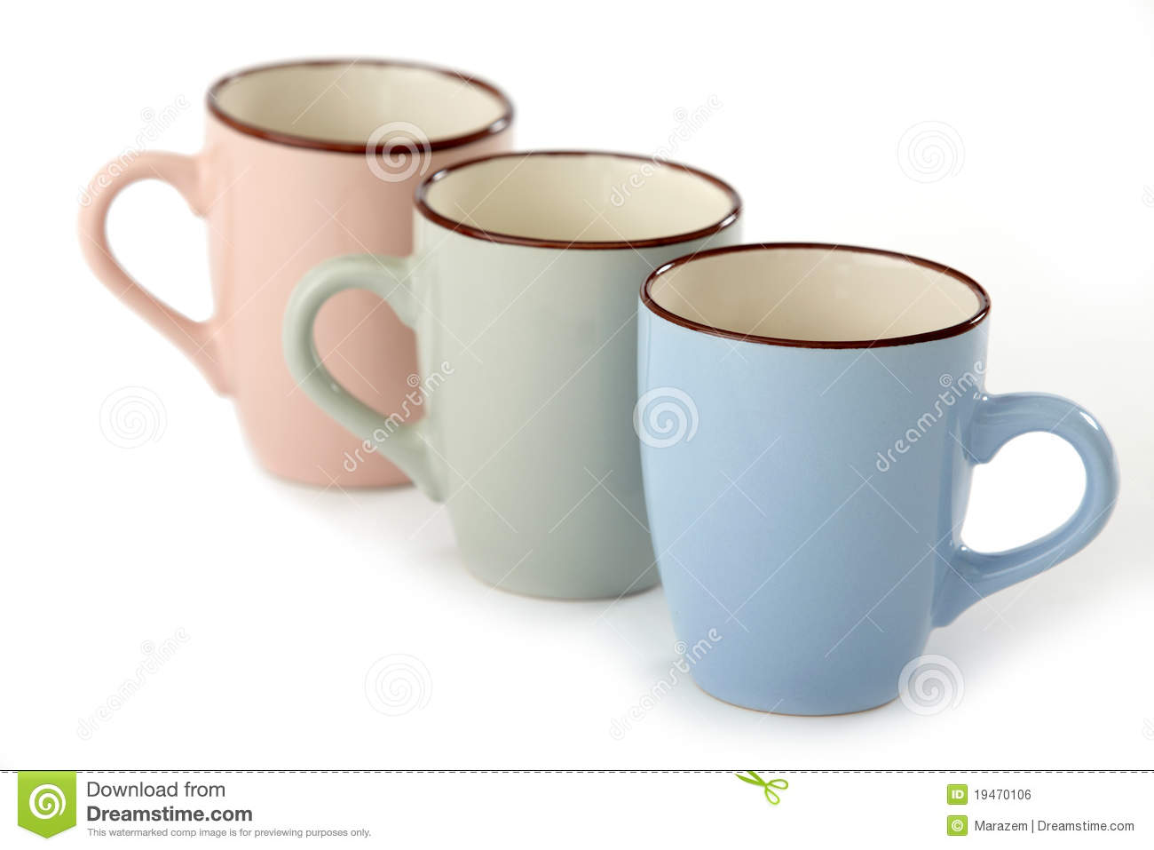 three tea cups stock photo image of three dishware  three tea cups