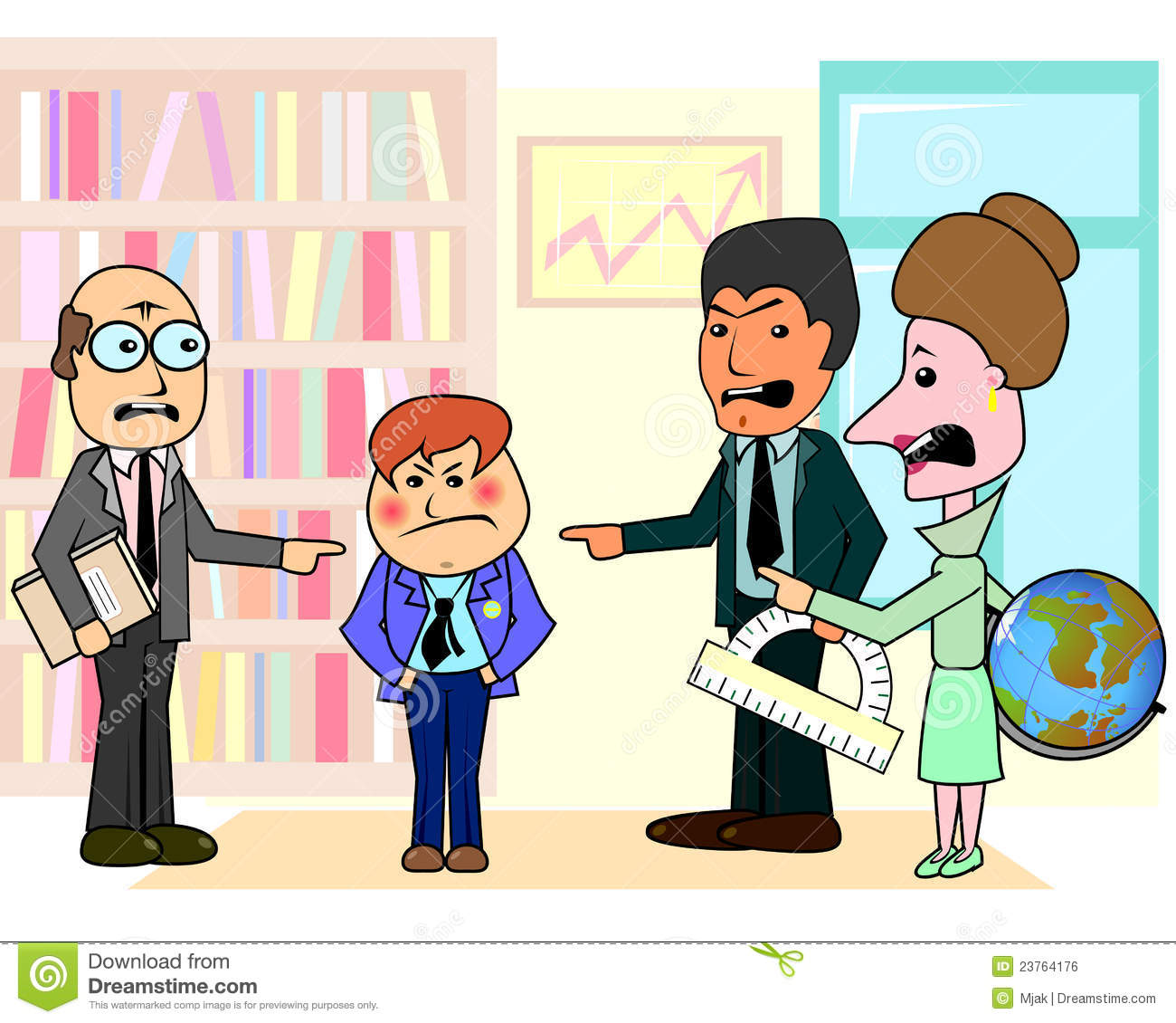 three teachers and bad student royalty free stock image Holding Hands Outline Holding Hands Drawing
