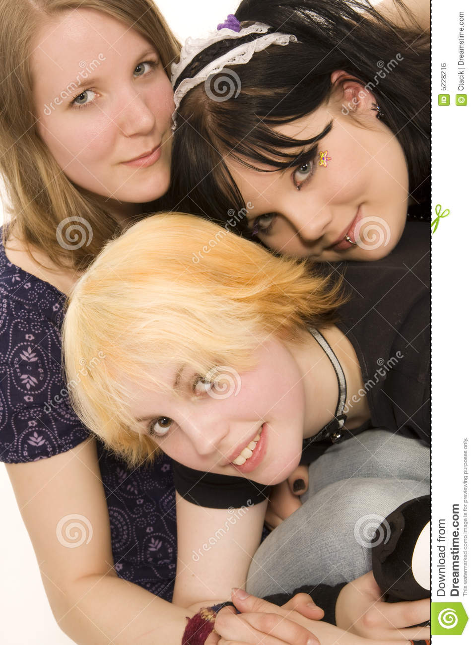 Royalty Free Three Teens With 102