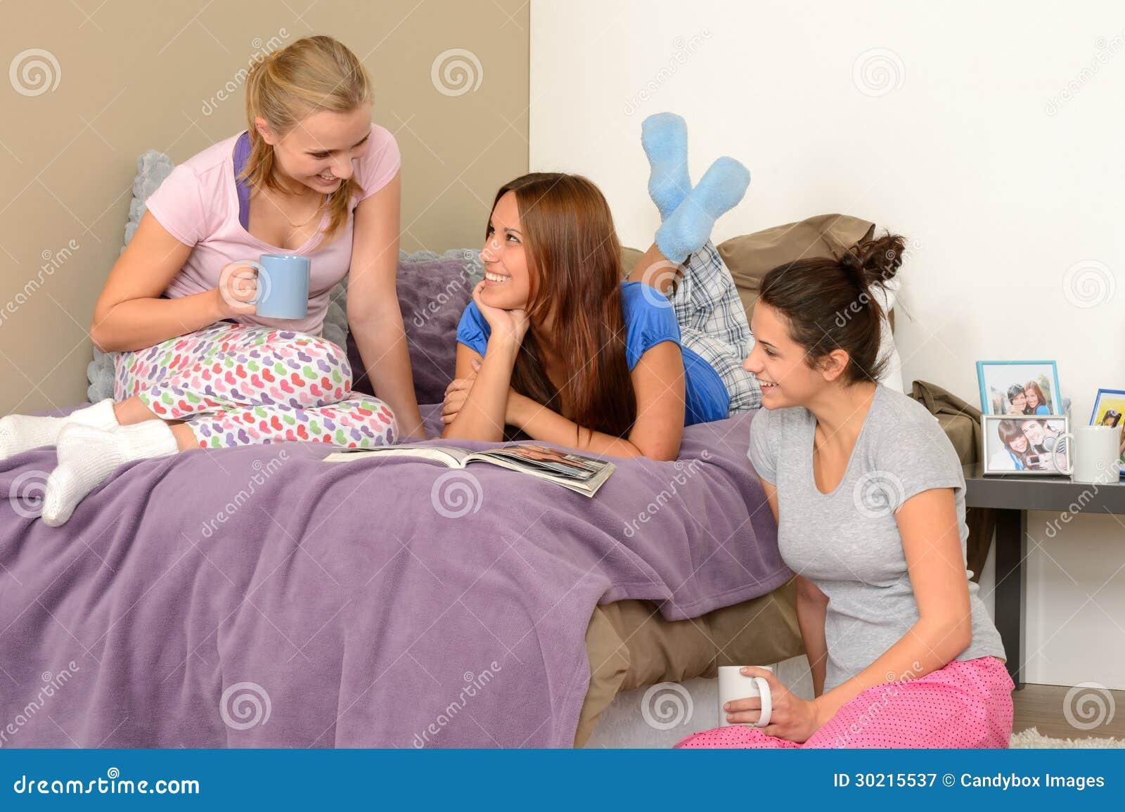 Her teenage girl pajamas offer ass