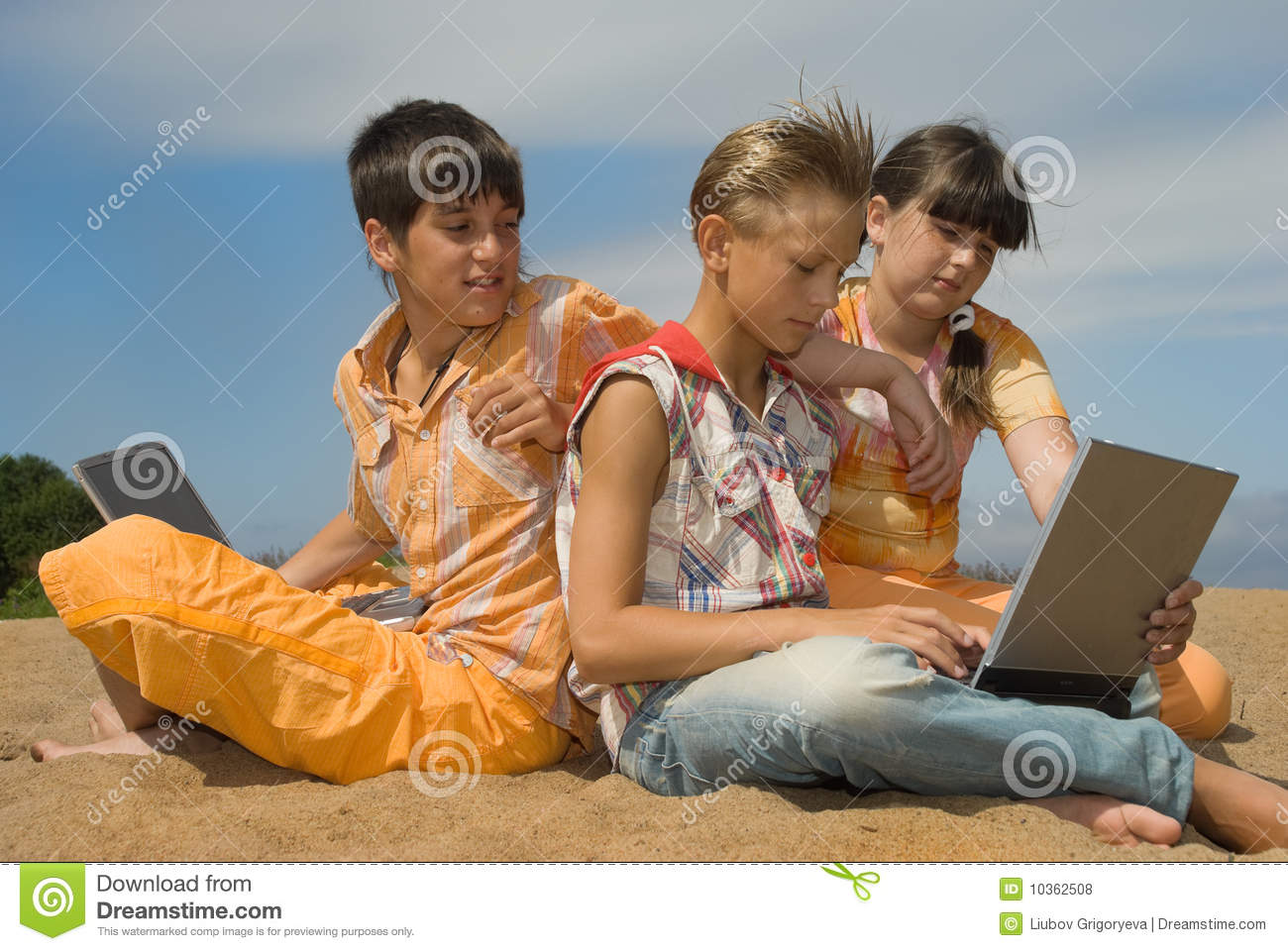 Royalty Free Three Teens With 110