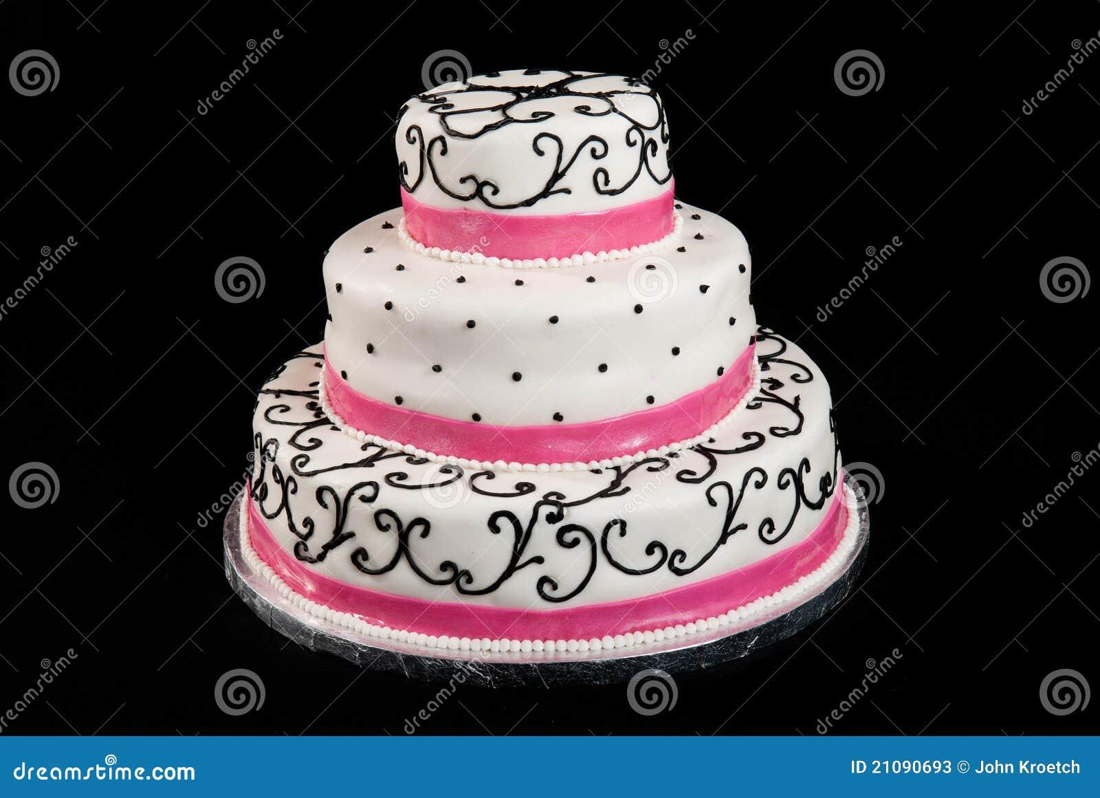 Three Tier Wedding Cake Stock s Image