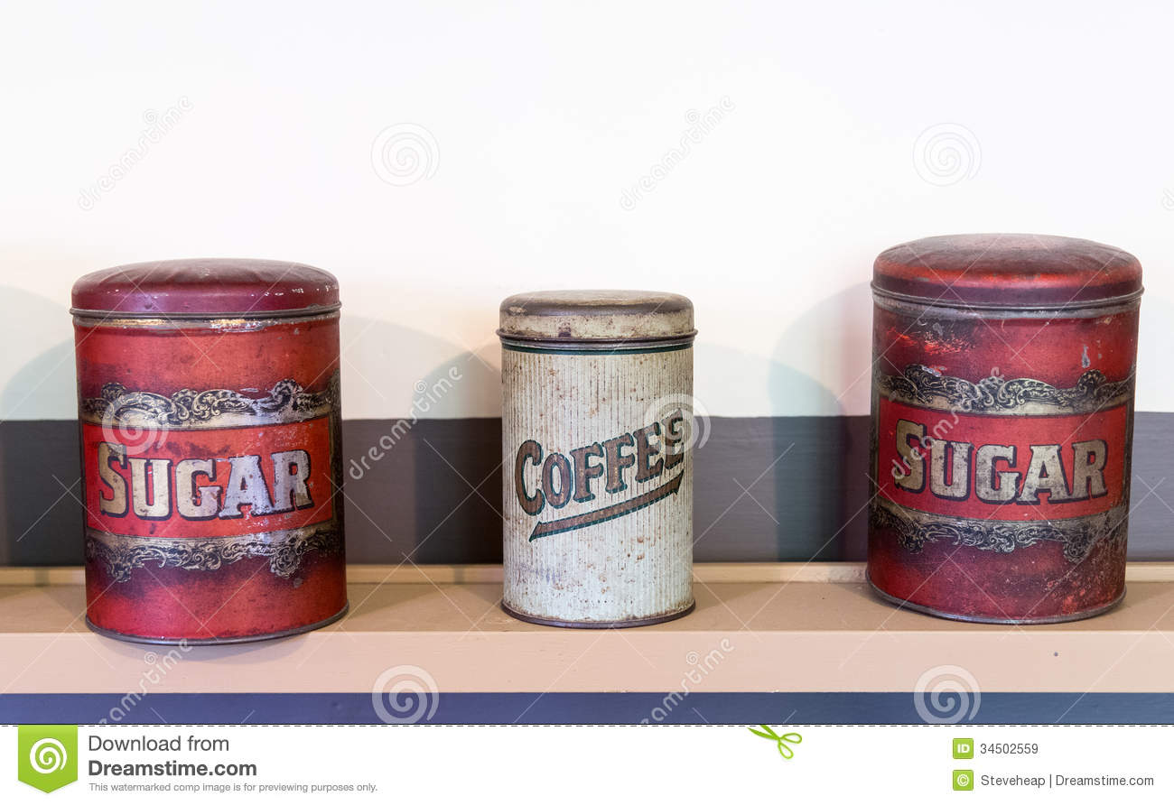retro kitchen canisters stock photo image 6674470