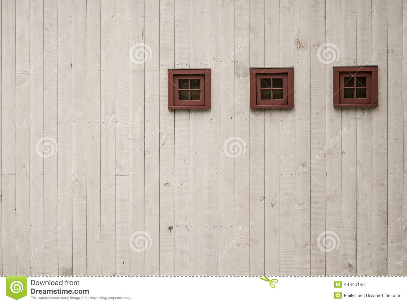 Three Tiny Windows stock photo  Image of white, drab - 44340150