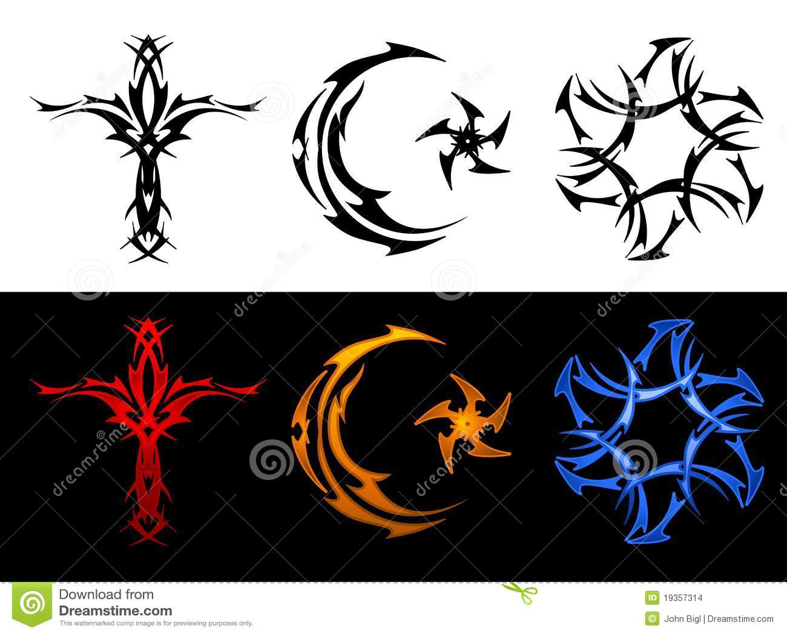 Three tribal religious symbols stock vector illustration of three tribal religious symbols biocorpaavc Images