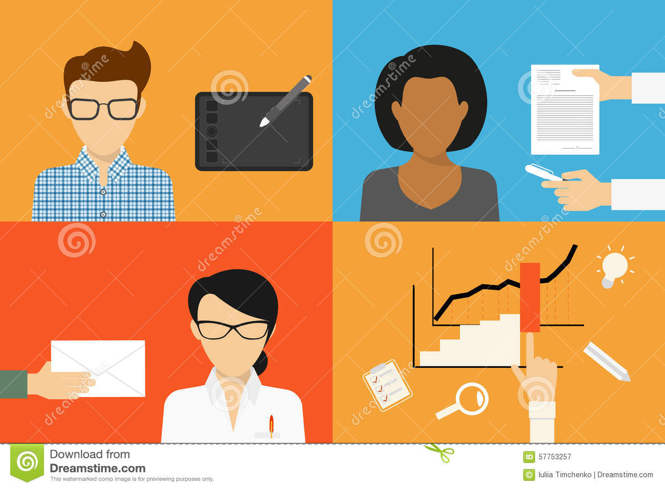 three types of outsourcing stock vector image 57753257 three types of outsourcing