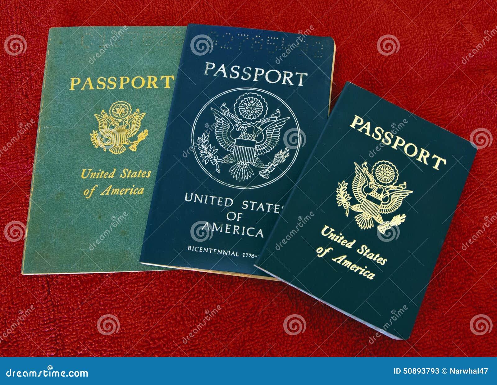 Three Us Passports Editorial Stock Photo Image Of Gold