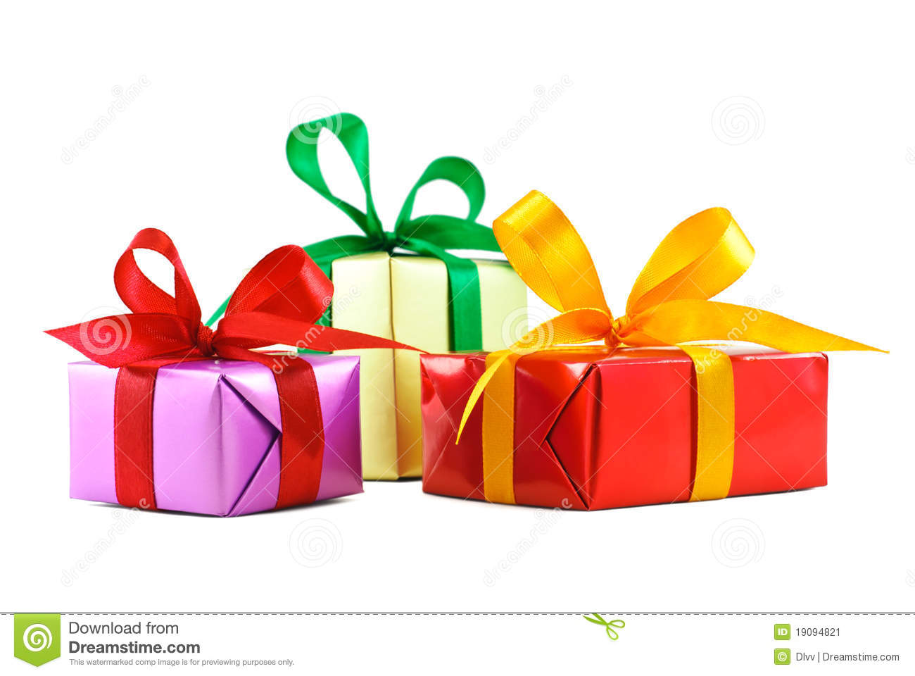 Three various gift wrapped presents stock image image of color download comp negle Images