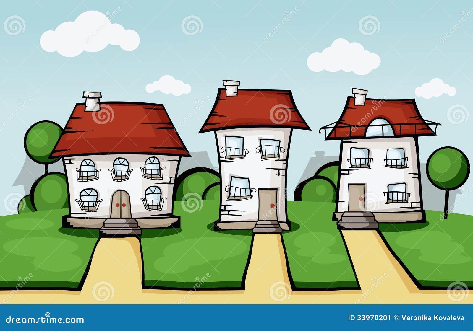 Three Vector House Stock Image Image 33970201