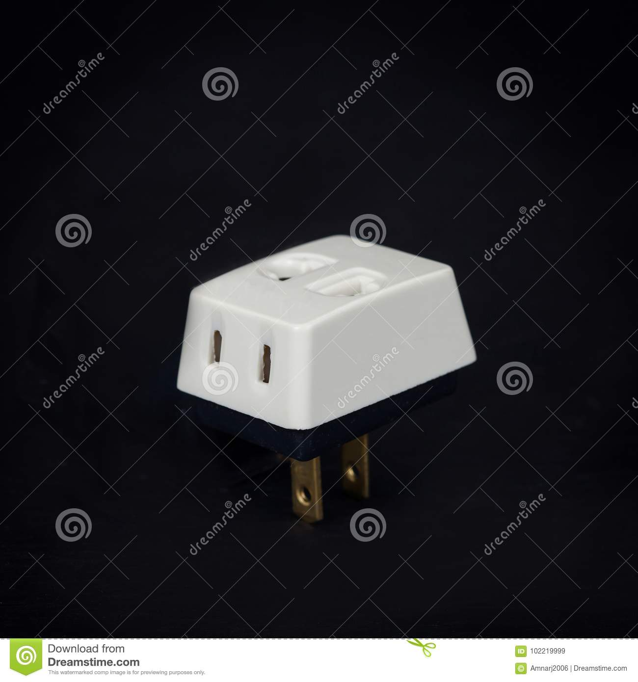 Three Way Plug For Home Electric Stock Image - Image of object ...