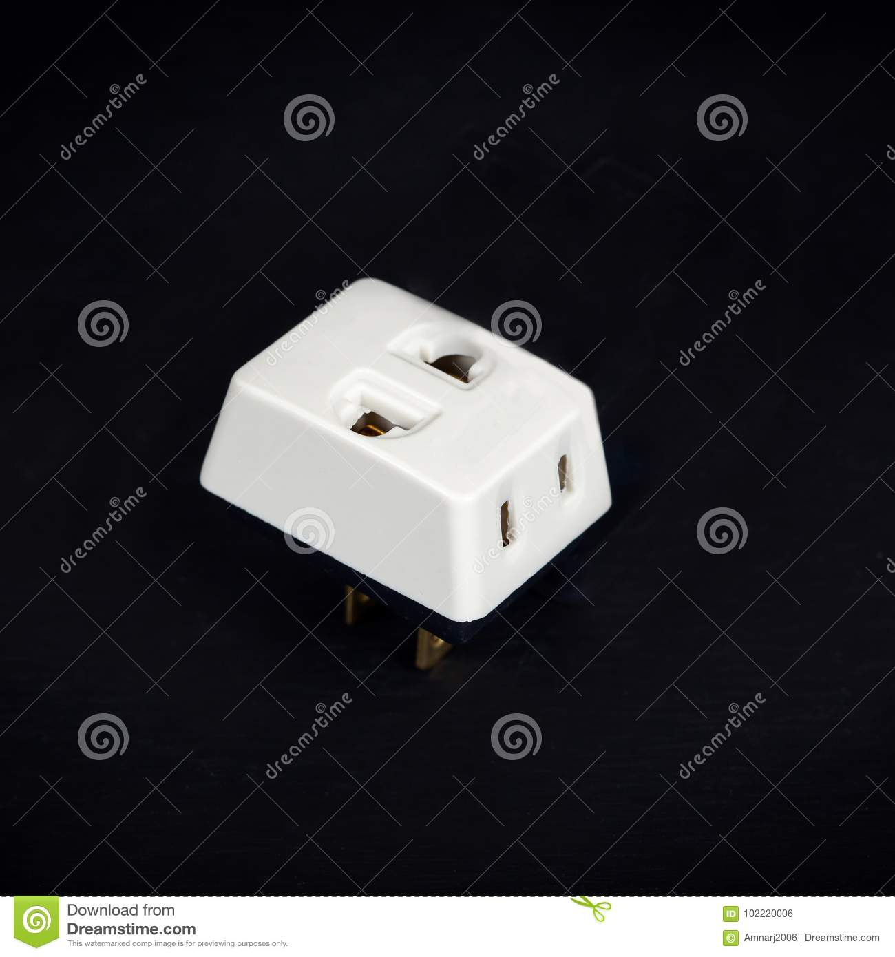 Three Way Plug For Home Electric Stock Photo - Image of object ...
